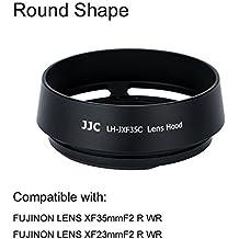 eFonto/JJC Metall Gegenlichtblende für Fujifilm Fujinon Objektiv XF 35mm f2,XF 23mm F2 R WR Objektiv Ersatz Fuji LH-XF35–2 (schwarz)
