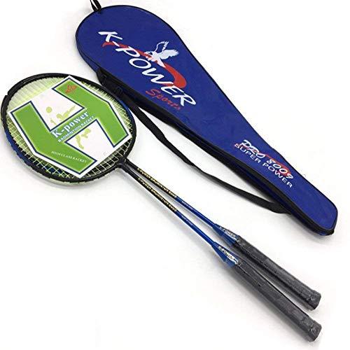 FXDCQC Professional Badminton Schläger-Set, langlebig Badminton Schläger mit Tasche Cover