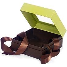 BULK Pistacho & Chocolate MEDIUMSQUARE Caja con cinta 5-3 / 4x5-3 / 4x3 (1 unidad, 24 paquetes por unidad)
