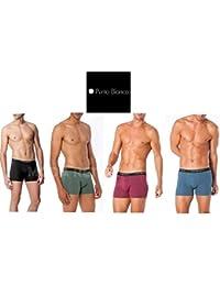 Punto Blanco - BOXERS Homme BASIX PUNTO BLANCO Haute sous-vêtements COTON - GRANATE, 44/S