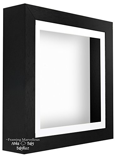 Black Shadow Box Tief Display Bild Foto 3D Holzrahmen Platz 12x12