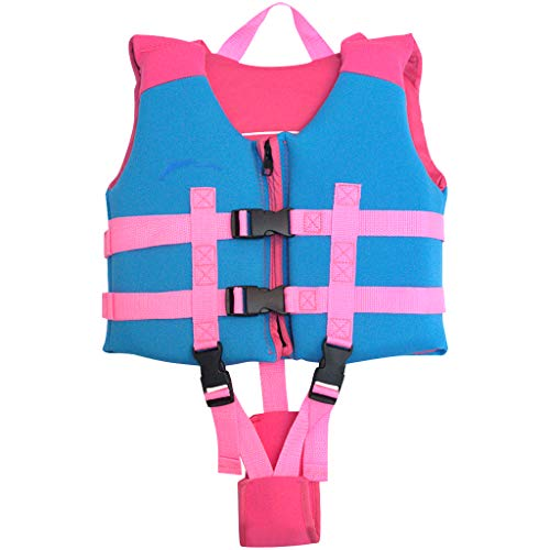 Hony Kinder Badeanzug Schwimmanzug - Jungen Swimwear Mädchen Bademode ärmellos Baby Badebekleidung Einteiler mit Schwimmflügel Schwimmen Trainer