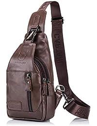 35646a47d Leap de G bolsillo en el pecho Hombre, bandolera hombre, Super Modern piel  Messenger Bag bolso, bolsa de hombro…