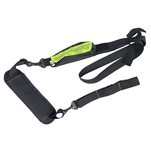 LIOOBO Surfboard Strap Paddle Board Schultergurt Surfboard Carry Paddle Strip Zubehör (Schwarz Grün) -