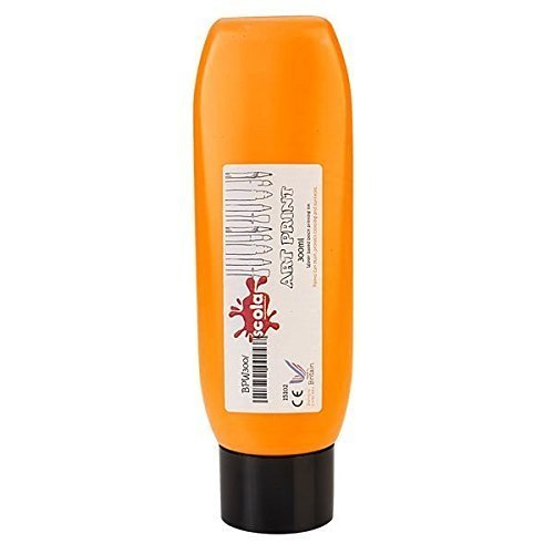 1-x-300ml-water-based-lino-craft-block-printing-ink-orange
