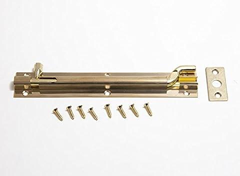 Swan Necked Offset Datenschutz Türriegel 150mm aus massivem Messing Packung mit 3 + Schrauben
