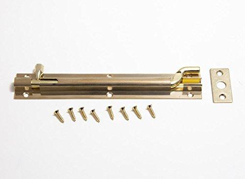 Swan collo Offset sulla porta Bolt 150 millimetri in ottone massiccio pacchetto di 3 + Viti