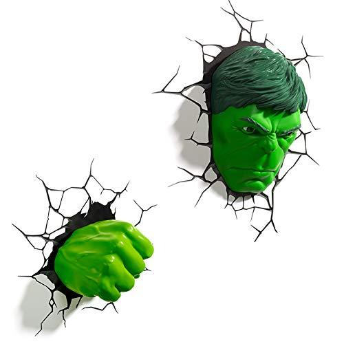 SMILE 3D Light Marvel Avengers Hulk luz Noche Máscara