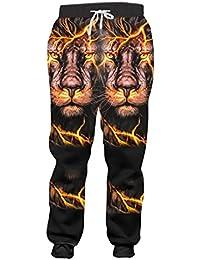 Ken-Rostisy Hombres Pantalones de harén Gráficos 3D Imprimir Flash León  Pantalones de chándal Homme 9f0cade603e