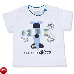 Chicco 09006364000000, T-Shirt Bimbo, Bianco (Bianco 033), 62 (Taglia Produttore:062)