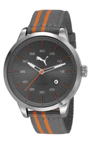 Puma  PU103641004 - Reloj de cuarzo para hombre, con correa de nailon, color gris
