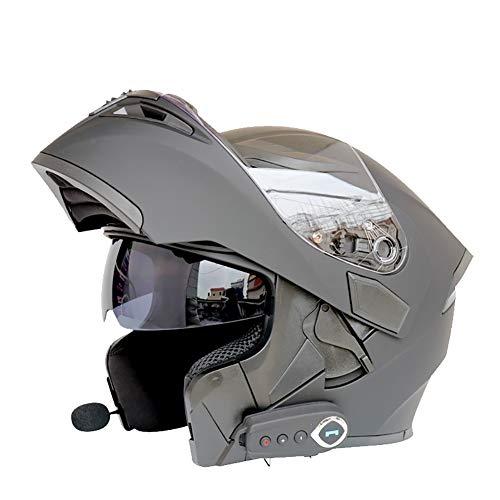 ZNDDB motorradhelm - Mit Bluetooth Elektroauto/Motorradhelm, Vollgesichtshelm, kann Das Telefon beantworten, Musik hören, Navigation, Vier Jahreszeiten universal, Bluetooth/Innenfutter entfernbar,A,M