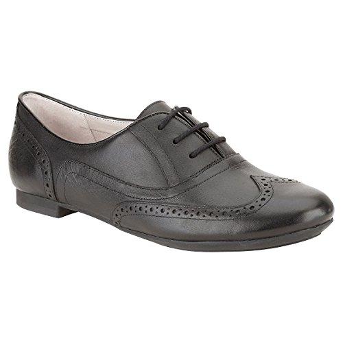 Clarks Habillé Femme Chaussures Carousel Trick En Cuir Noir Taille 41