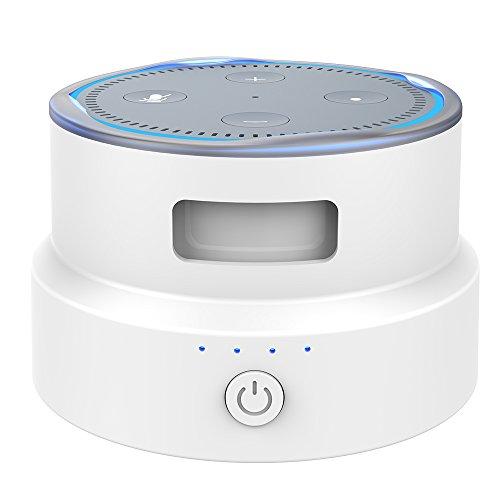 Smatree SmaCup Tragbare Batteriestation für 2. Generation Echo Dot (Weiß)