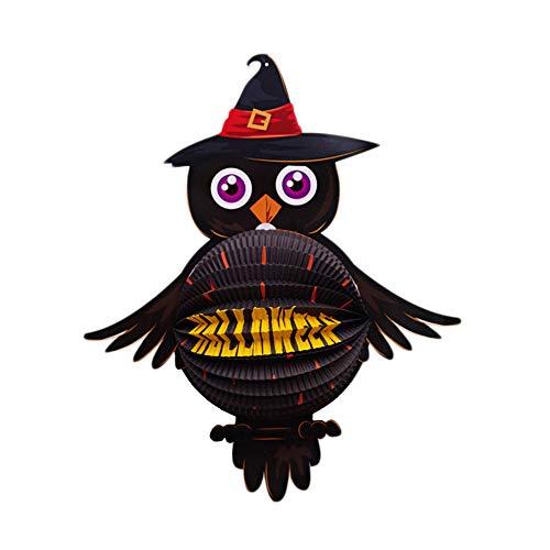 wsjwj Nachtlichter & Schlummerleuchten Halloween Dekoration Kürbis Lampe Papier Laterne Bar KTV Kindergarten Szene Layout liefert Laterne Anhänger