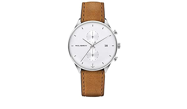Hewitt S Chronograph Ph C Herren Uhr Armband Ppaul Quarz Mit W Leder IgyYmbf67v