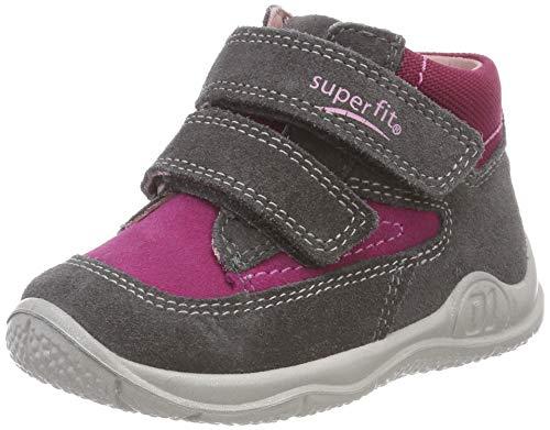 Superfit Baby Mädchen Universe Sneaker, (Grau/Rot 20), 26 EU