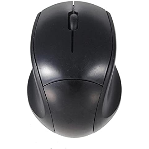 Internet Receptor USB de 2.4GHz ratón óptico del ratón sin hilos sin cuerda del ordenador PC para el ordenador portátil (Negro)