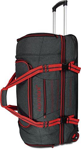 normani Reisetasche Reisetrolley mit Rollen 90 oder 120 Liter Volumen mit Verschiedenen Fächern Farbe Z Red Größe 90 Liter
