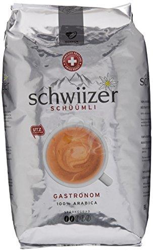 Schwiizer Schüümli Gastronom Ganze Kaffeebohnen, 1er Pack (1 x 1kg)