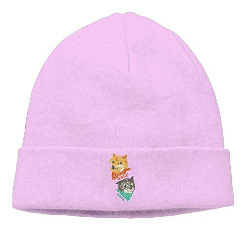 Christmas Fashion warm hat Momen Doge and Cate Classic Jogging Black Beanies Hats