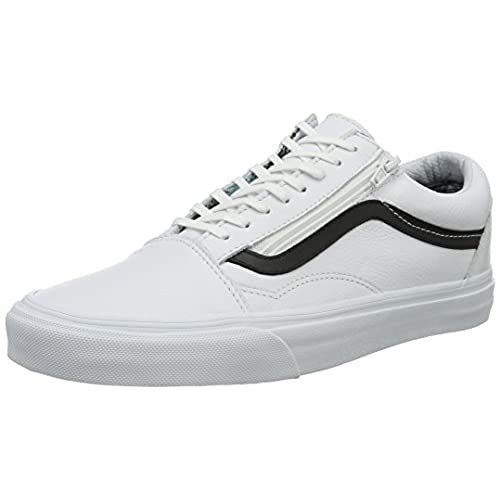 vans old skool leder grau
