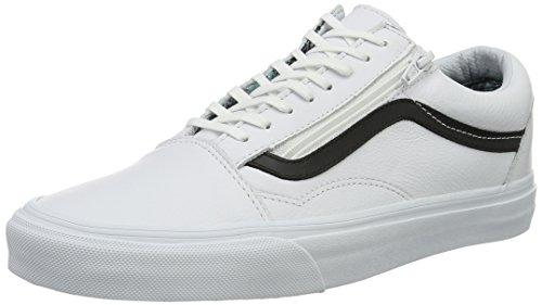 Vans Old Skool Zip, Sneakers Basses Mixte Adulte Blanc (Plaid Flannel)