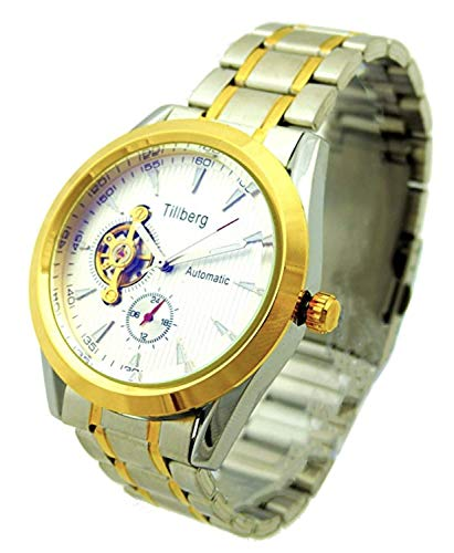 Herrenuhr Automatik Uhrenwerk Metall Armband silber gold