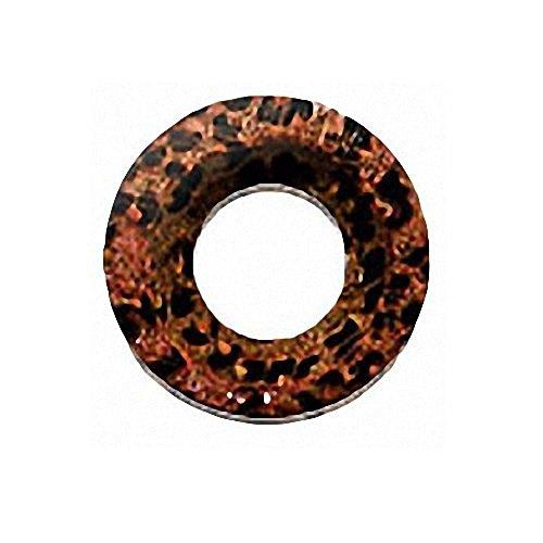 Piercingfaktor Organic Flesh Tunnel Schmuck Coco Wood Double Flared Ohr Piercing Kokos Holz Braun 16mm