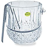 Star Galaxy, Crystalline Diamond Design Double Old Fashioned Glass Ice Bucket With Tong 1 LTR
