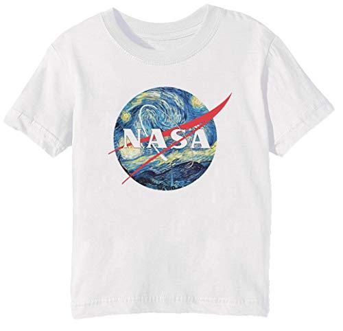 The Starry NASA - Van Gogh Niños Unisexo Niño Niña Camiseta Cuello...