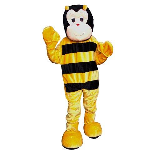 Dress Up America Bienen Maskottchen Kostüm für Erwachsene (Komplette Biene Anzug)