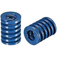 sourcing map 20x25mm largo espiral estampado carga ligera molde de compresión resorte rectangular azul 2 unids