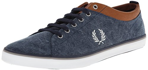 Fred Perry Hallam Printed Canvas Carbon Blue Blue