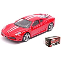 NEW BURAGO BU31107R FERRARI 430 SCUDERIA RED 1:43 MODELLINO DIE CAST MODEL