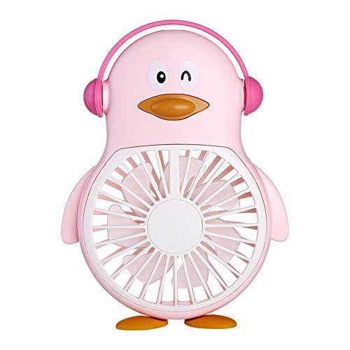 Fan QUANFANG Tragbarer Taschenlüfter des elektrischen Gebläsekarikatur-USB-Pinguinventilatorminihandheldgebläsekursteilnehmers im Freien (Color : Pink) (Storage-schuppen Portable)