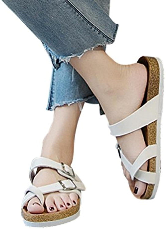 Zapatos de mujer verano, Covermason Sandalias de playa planas para mujeres Zapatillas de solárium con suela gruesa