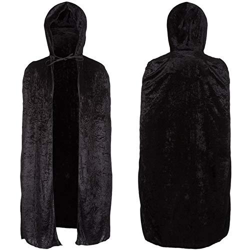 REDSTAR FANCY DRESS Halloween Terciopelo Capa Negro Disfraz Adulto Hombre Mujer Vampiro