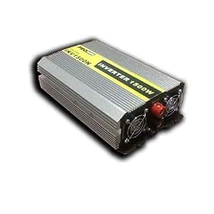 Convertisseur de tension 12 - 220 Volts - Puissance continue 1500 W (3000 W max) - 2 prises 230 V et 1 prise USB