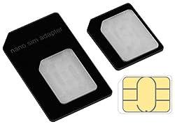mumbi Nano SIM Adapter für iPhone SE 5 5S / Nano SIM Adapter auf Micro SIM und Normale SIM-Karte