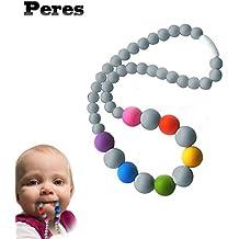 Collar de colores de silicona para lactancia, mordedor para bebé