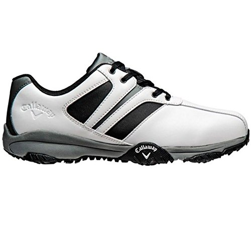 Callaway Golf 2017 Mens Chev Comfort Golf Shoes - White/Black/Grey - UK 9