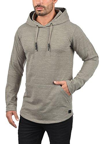 REDEFINED REBEL Mickey Herren Kapuzenpullover Hoodie Sweatshirt mit Kapuze aus hochwertiger Materialqualität Meliert Mid Grey