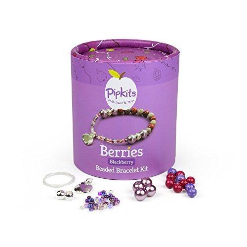 Pipkits Berries Beaded Bracelet Jewellery Making Kit in Blackberry by Pipkits Pink Blackberry Pearl
