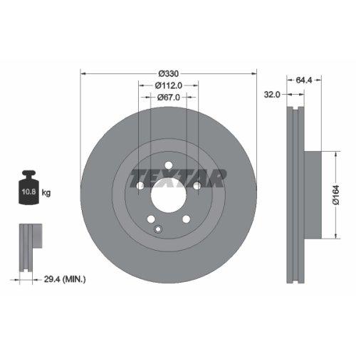 Preisvergleich Produktbild Textar 92119903 Bremsscheiben