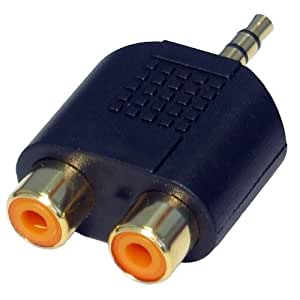CDL Micro 3.5 mm Jack to Twin Phono/RCA Adapter/Convertor