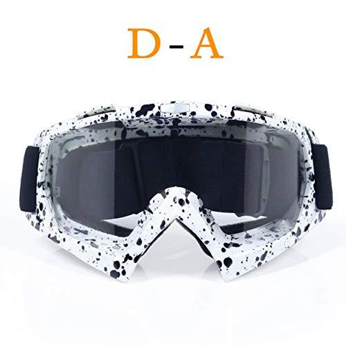 fish Test Motocross Helmbrille Gafas Moto Cross Dirtbike Motorradhelme Brillen Skifahren Skating Brillen, A1