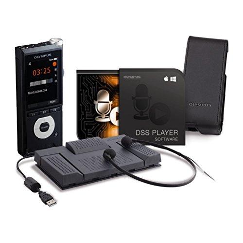 Olympus DS-2600 Diktiergerät inkl. Transkriptionskit AS-2400, DSS Player Standard-Lizenz (Mac & PC), LI-92B Lithium-Ionen-Akku, KP30 Micro-USB-Kabel, CS151 (4-fuß-mikrofon-kabel)