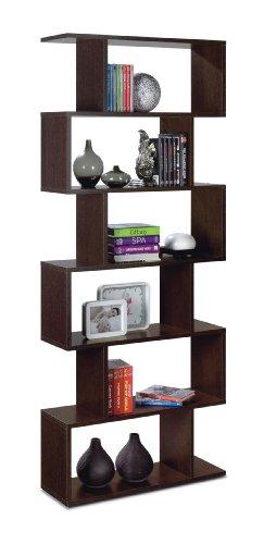 Best Price Ziggy Dark Brown Wenge Room Divider Bookcase – by furniturefactor on Line
