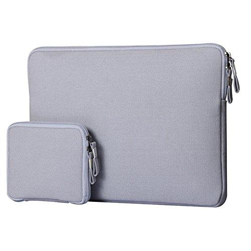 Laptop Hülsen Beutel Abdeckung für 15-15.4 Zoll Notebook Grau